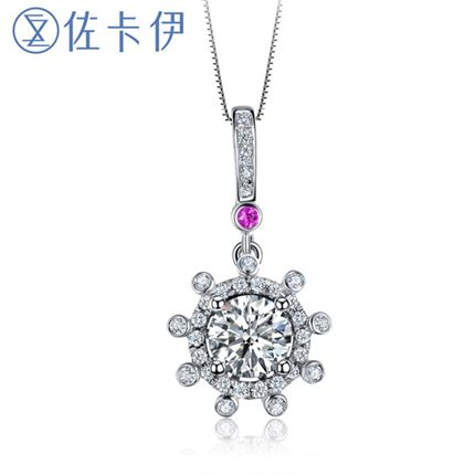 【摩天轮】系列 白18K金钻石女士吊坠