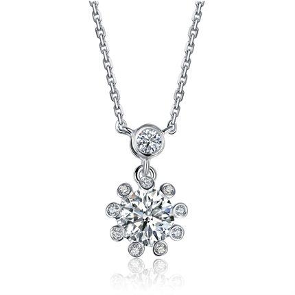【摩天轮】系列 白18K金钻石女士链牌