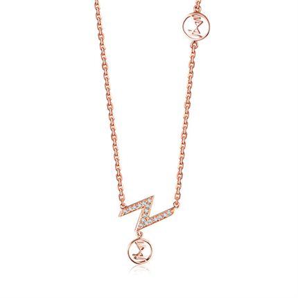 【光系列】 玫瑰金女士项链