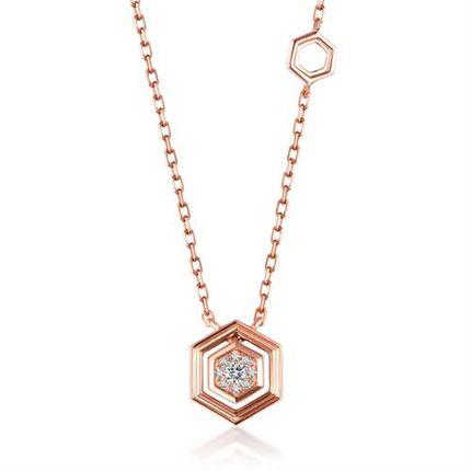 【巢】系列 钻石项链女款锁骨链时尚链牌