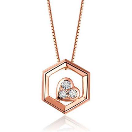 【巢】系列 18K金钻石吊坠女款项坠(两色可选)