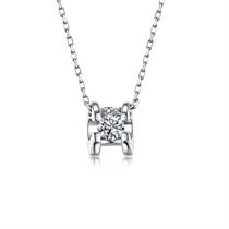 【挚爱】 白18k金简约时尚钻石女士吊坠