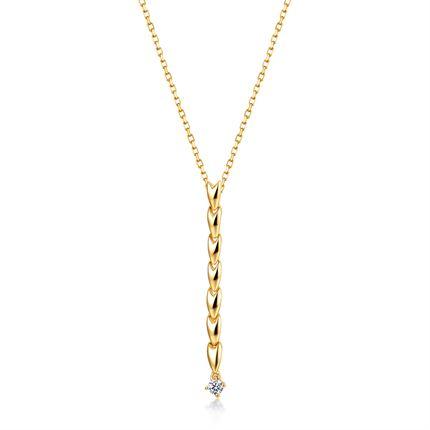 【恋恋四季-麦穗】 18k金钻石吊坠女时尚钻石项链