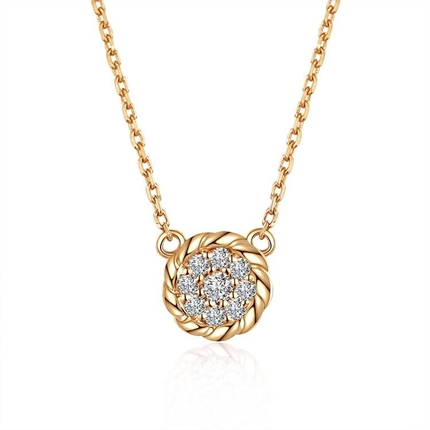 玫瑰金钻石吊坠 玫瑰金女士吊坠