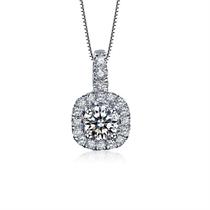 【幸福圆点】 白18k金群镶钻石吊坠女士款