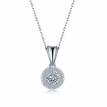 【摩天轮】 白18K金钻石吊坠