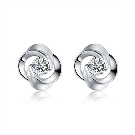 【叮咛】 白18K金30分/0.3克拉钻石女士耳钉