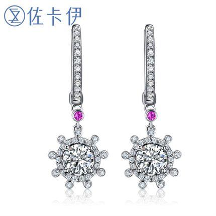 【摩天轮】系列 白18K金钻石女士耳环