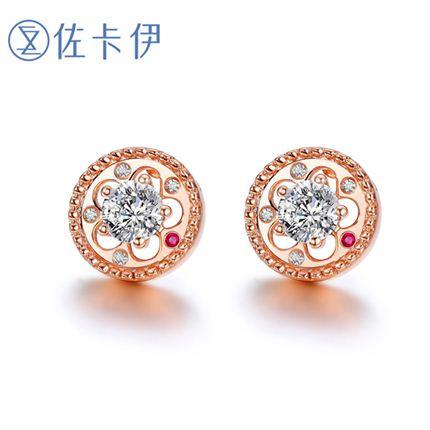 【摩天轮】系列 18K金钻石女士耳钉