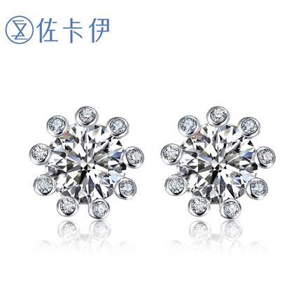 【摩天轮】系列 白18K金钻石女士耳钉