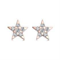 【星月】 玫瑰金12分/0.12克拉钻石女士耳钉