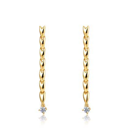 【麦穗】系列 18k金女款钻石耳环耳饰时尚新品