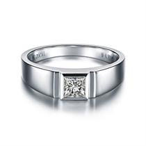 【雅致】 白18K金30分/0.3克拉钻石男士戒指