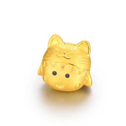 【黄金小丸子】系列 3D硬金配饰 小丸子招财猫配饰