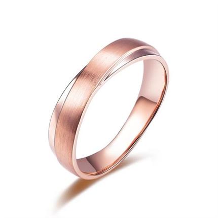 【轨迹】 玫瑰金男士戒指
