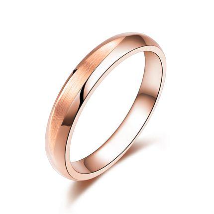【最美时光】 玫瑰金男士戒指