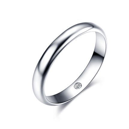 【唯爱】 白18K金钻石男士戒指