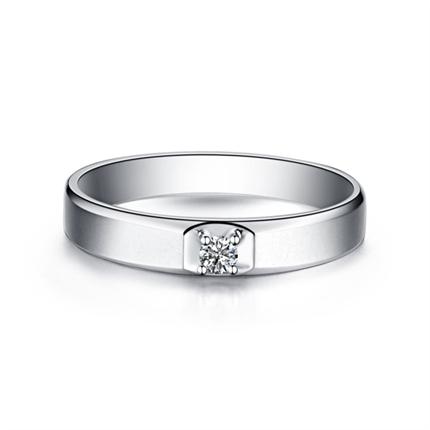 【灵活】 白18K金密斯戒指