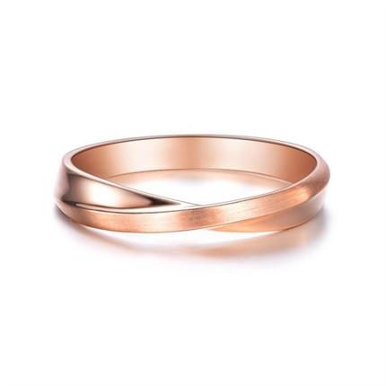 【相遇】 18k玫瑰金鉆石情侶對戒男士戒指
