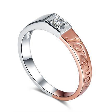 【永恒时光】 白18K金 钻石男士戒指