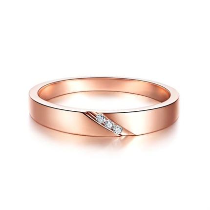 【相知】 玫瑰金女士戒指