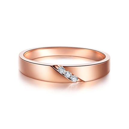 【相知】 玫瑰金男士戒指