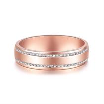 【情书】 18k玫瑰金时尚钻石戒指