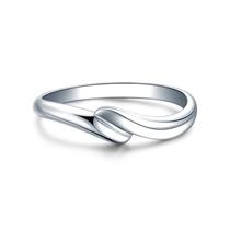 【邂逅】 白18k金钻石结婚对戒男士戒指