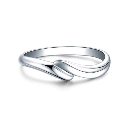 【邂逅】 白18k金鉆石結婚對戒男士戒指