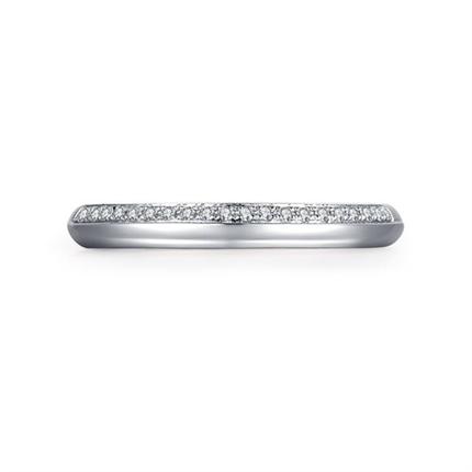 【点滴】 白18k金时尚钻石对戒女士结婚戒指