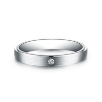【YOU&I】 白18K金1分/0.01克拉钻石女士戒指
