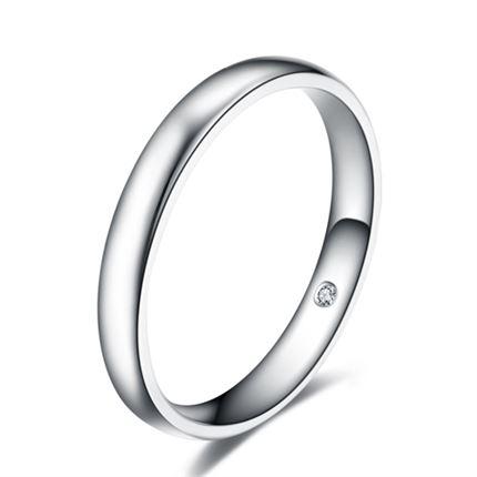 【幸福】 18K金钻石戒指男戒婚戒指对戒