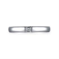 【情结】 白18K金时尚情侣钻石对戒男士戒指