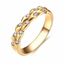 【麦穗】系列 18k金钻戒钻石排戒时尚新款情侣对戒