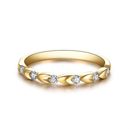 【恋恋四季-麦穗】 18k金钻石戒指时尚个性钻戒