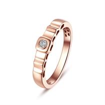 【梦幻城堡】 18K玫瑰金男款钻石戒指