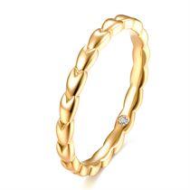 【麦穗】系列 18K钻石戒指时尚女戒