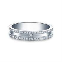 【守护】 白18k金钻石结婚对戒女士钻戒