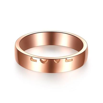 【情书】   18K玫瑰金浪漫订婚结婚对戒男士戒指