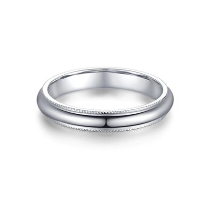 【桂冠】 白18K金钻石男士戒指