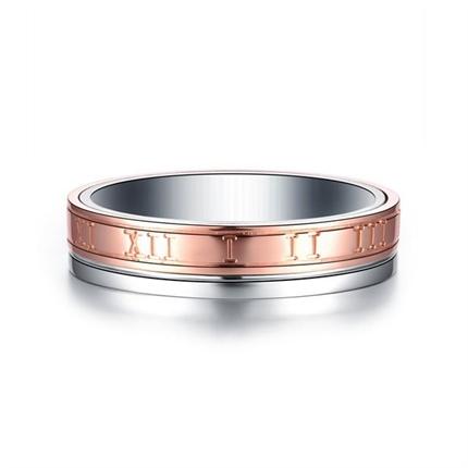 【时光里的爱】 18k双色金情侣钻石对戒女士钻戒