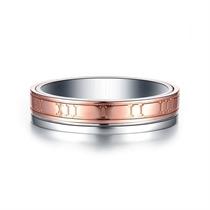 【时光里的爱TIME&LOVE】 18k双色金情侣钻石对戒男士钻戒