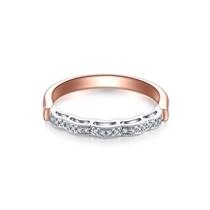 【爱在巴黎桥】 18K双色金钻石对戒结婚对戒