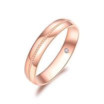 【如初】 18K玫瑰金订婚结婚钻石对戒男士戒指