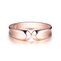【契约】   玫瑰金时尚钻石情侣对戒男士戒指