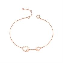 【手铐】 玫瑰18K金时尚钻石手链