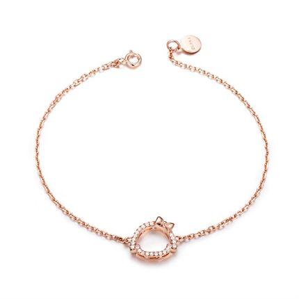 【可爱系列】 玫瑰18K金钻石手链