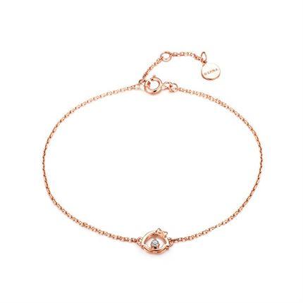 【樱桃小丸子】系列 玫瑰18K金钻石手链