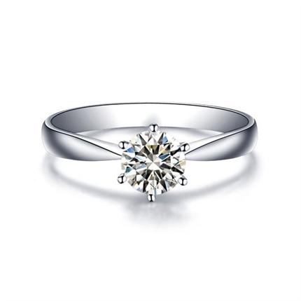 【初晴】 白18K金女士戒指