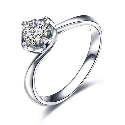 【初恋】 白18K金 钻石女士戒指